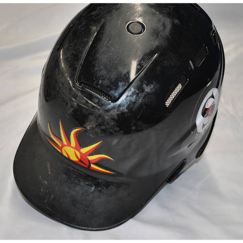 Photo of Arizona Fall League - Game-Used Batting Helmet - Player Name: Greg Deichmann (OAK) - Jersey Number: 9