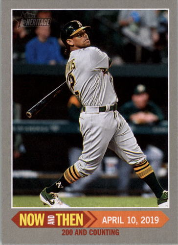 Photo of 2019 Topps Heritage Now and Then #NT9 Khris Davis