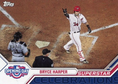 Photo of 2017 Topps Opening Day Superstar Celebrations #SC23 Bryce Harper