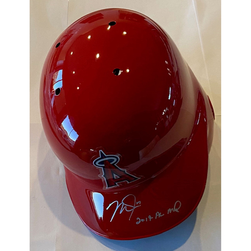 "Photo of Mike Trout ""2019 AL MVP"" Autographed Angels Batting Helmet"
