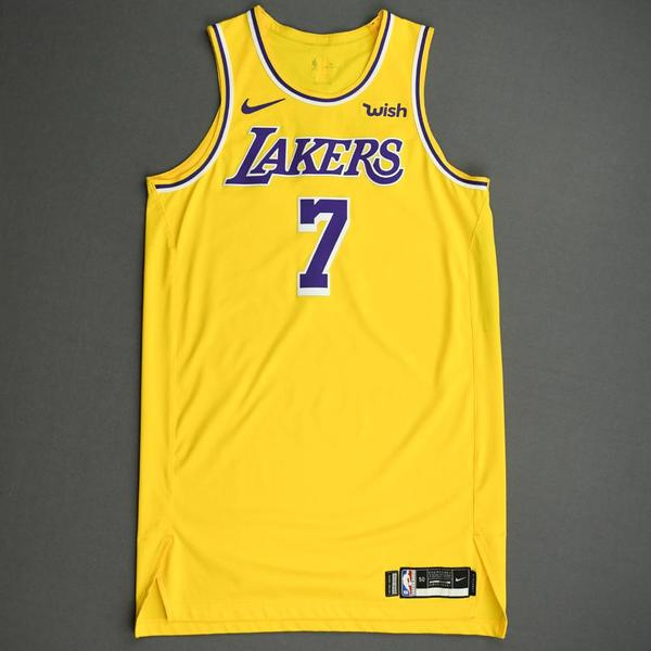 Image of JaVale McGee - Los Angeles Lakers - NBA China Games - Game-Worn Icon Edition Jersey - 1 of 2 - 2019-20 NBA Season