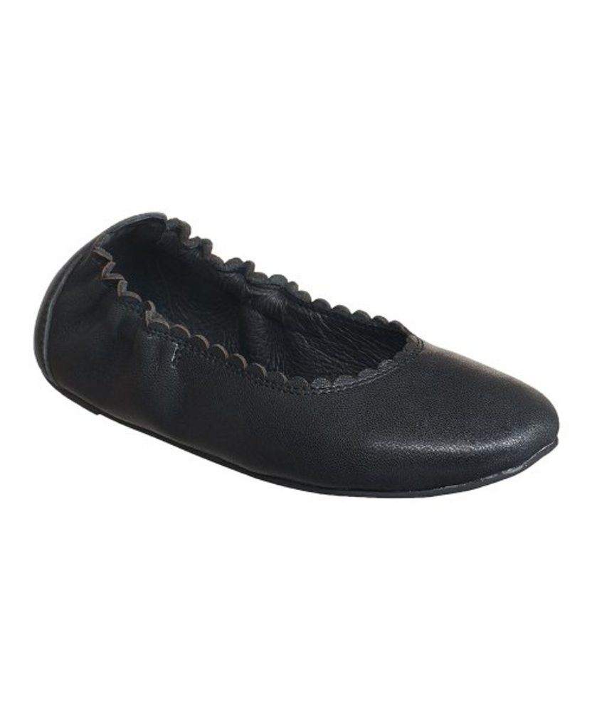 Photo of Antelope Leather Scalloped Ballet Shoe