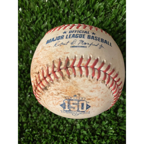 Jean Segura Game Used Hit Single Baseball - 4/10/21, Top 6