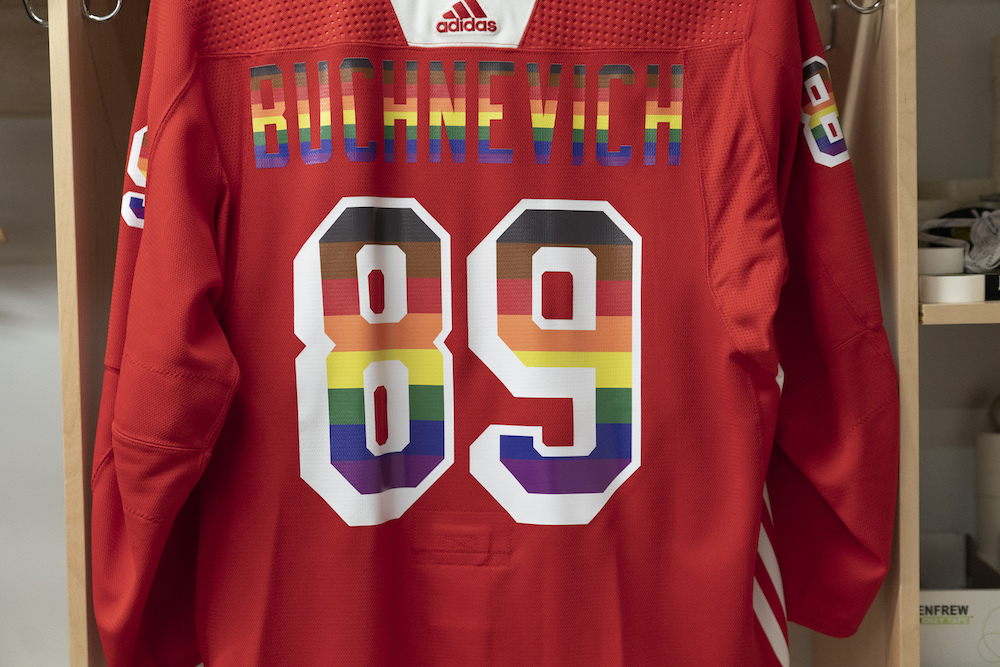 Autographed Pride Night Warm-Up Jersey: #89 Pavel Buchnevich - New York Rangers