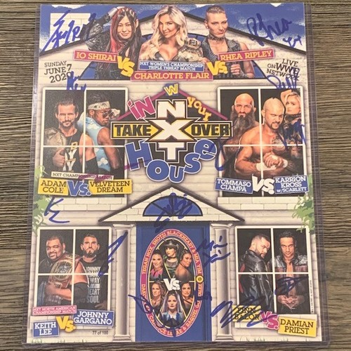 Photo of SIGNED and NUMBERED NXT TakeOver In Your House 2020 Fight Card(Random Number)
