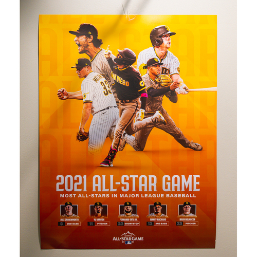 Photo of Signed 2021 MLB All-Star Game Poster
