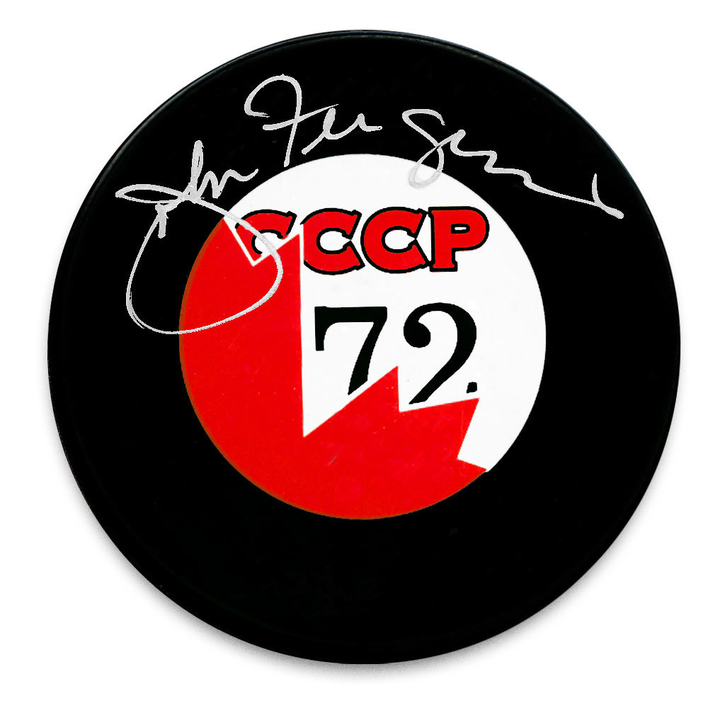 John Ferguson Team Canada Summit Series 1972 Autographed Puck