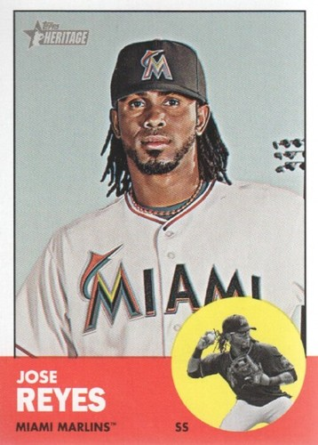 Photo of 2012 Topps Heritage #174A Jose Reyes