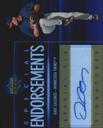 Photo of 2006 Upper Deck Special F/X Special Endorsements #DG Dave Gassner AUTO