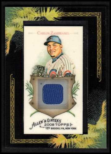 Photo of 2008 Topps Allen and Ginter Relics #CZ Carlos Zambrano Jsy C