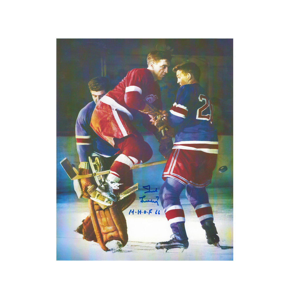 TED LINDSAY Signed Detroit Red Wings 8 X 10 Photo - 70297A