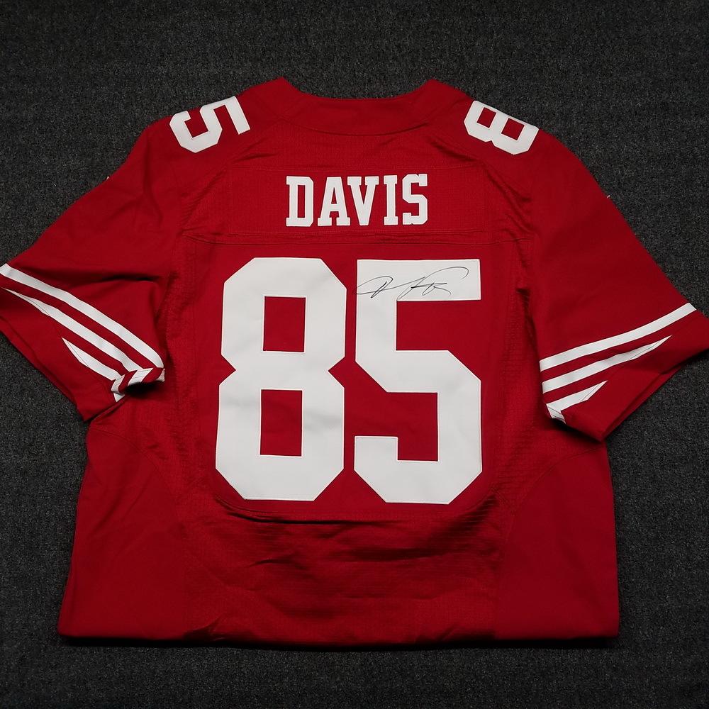 huge discount 0fb09 e3d7d NFL Auction | 49ERS - VERNON DAVIS SIGNED AUTHENTIC 49ERS ...