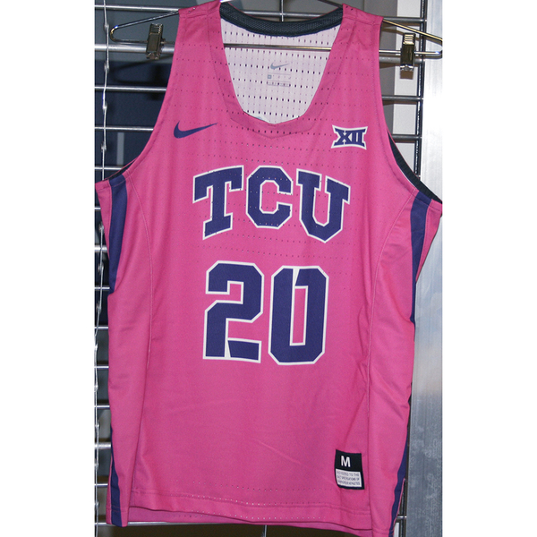 Photo of Women's Basketball Pink Game Worn Nike® Jersey #20 (M)