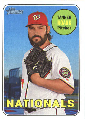 Photo of 2018 Topps Heritage #192 Tanner Roark