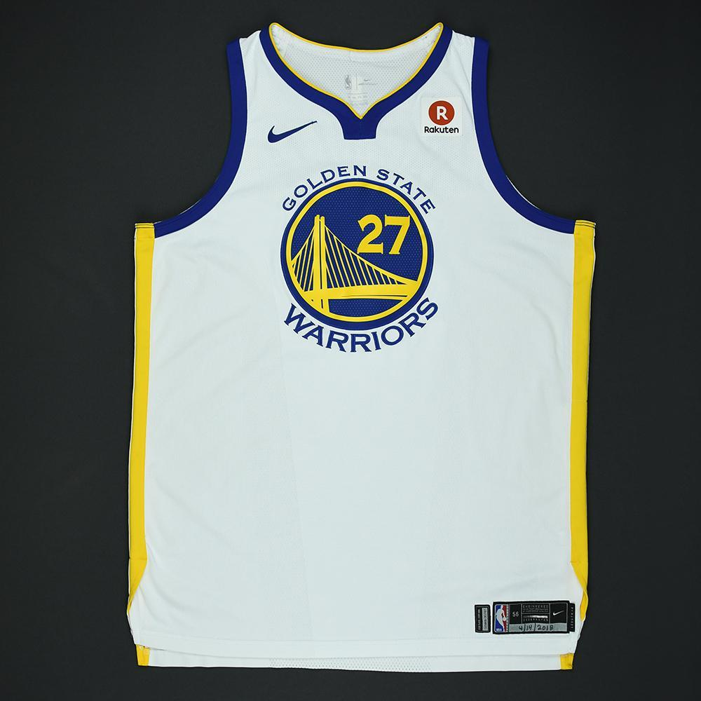 Zaza Pachulia - Golden State Warriors - 2018 NBA Playoffs Game-Worn Jersey - Dressed, Did Not Play