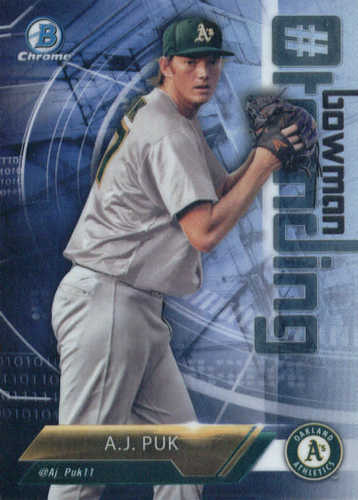 Photo of 2018 Bowman Chrome Hashtag Bowman Trending Refractors #AP A.J. Puk