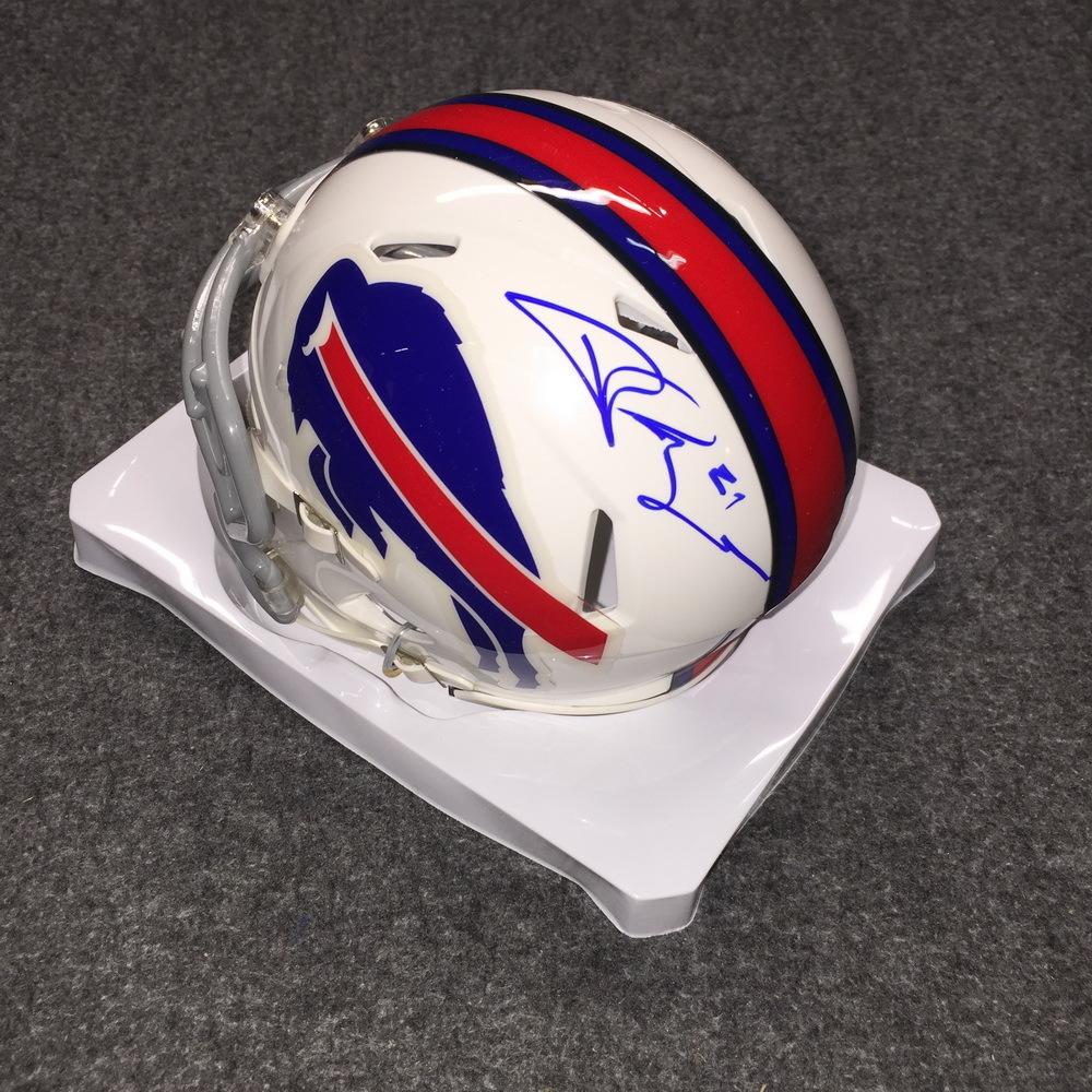 Bills - Jordan Poyer signed Bills mini helmet