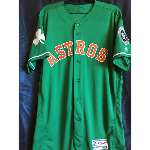 Photo of Garrett Stubbs 2019 Team-Issued St. Patrick's Day Jersey (Size 44)