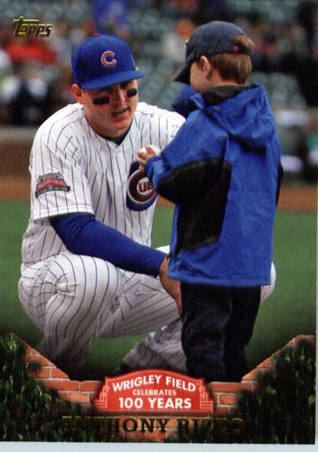 Photo of 2016 Topps 100 Years at Wrigley Field #WRIG12 Anthony Rizzo