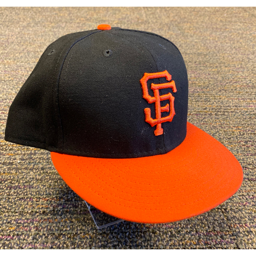 2019 Game Used Orange Bill Cap worn by #15 Bruce Bochy on 9/27 vs. Los Angeles Dodgers - Size 8 1/8