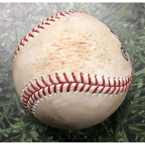 Photo of Game-Used Baseball SF@MIL 06/05/17 - Junior Guerra - Buster Posey: Single