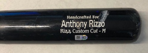Photo of 12 Days of Auctions: Day 6 -- Anthony Rizzo Team-Issued Cracked Bat -- 2019 Season
