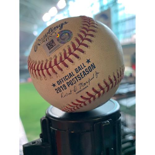 Photo of 2019 Game-Used Baseball Game 2 ALDS 10/5/19 Astros vs. Rays: Blake Snell to Yordan Alvarez - Bottom 2nd (Single to CF)