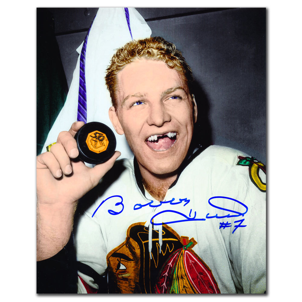 Bobby Hull Chicago Blackhawks 50th GOAL Autographed 8x10