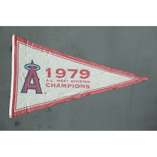 Photo of Los Angeles Angels 1979 American League West Division Champions Team-Issued Pennant