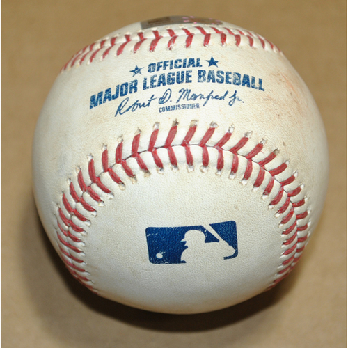 Photo of Game-Used Baseball - 2021 Little League Classic - Los Angeles Angels vs. Cleveland Indians - 8/22/2021 - Pitcher: Jose Suarez, Batter: Amed Rosario - Single - Bot 3