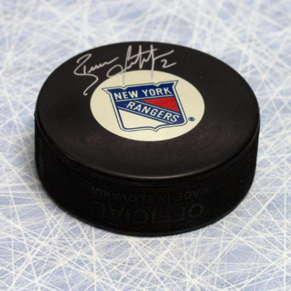 Brian Leetch New York Rangers Autographed Hockey Puck