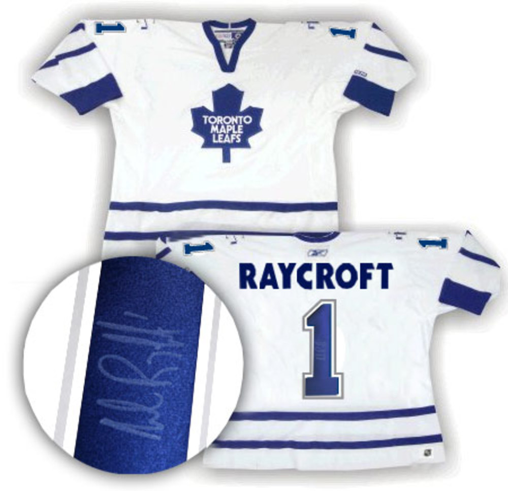 Andrew Raycroft Signed Jersey Maple Leafs Replica White