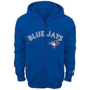 Toronto Blue Jays Youth Wordmark Zip Up Hoody by Majestic