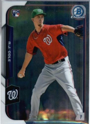 Photo of 2015 Bowman Chrome #166 A.J. Cole Rookie Card -- Nationals post-season