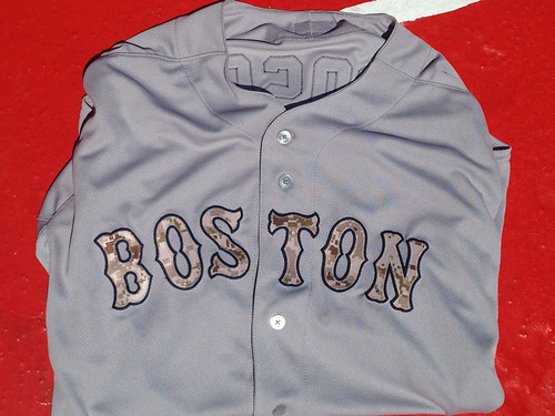 Brock Holt Autographed Red Sox Memorial Day Game-Used Jersey worn in the  May 26th 86e5a8e04b8