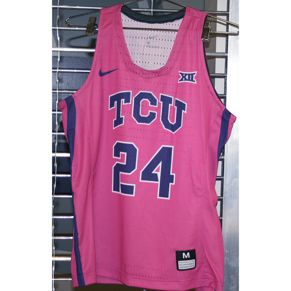 Photo of Women's Basketball Pink Game Worn Nike® Jersey #24 (M)