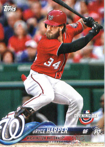 Photo of 2018 Topps Opening Day #114 Bryce Harper