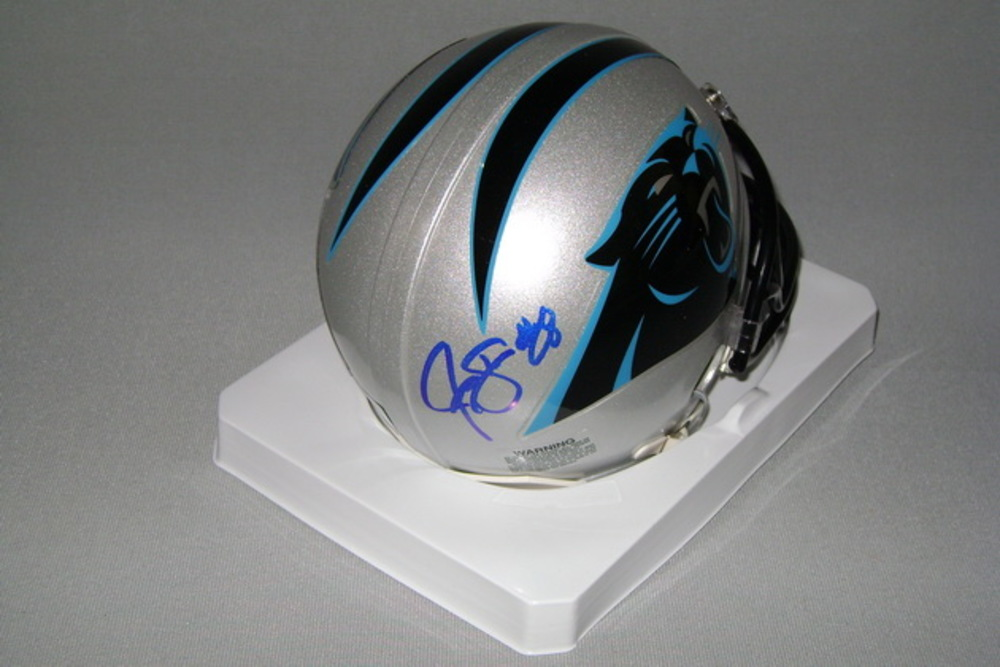PANTHERS - JONATHAN STEWART SIGNED PANTHERS MINI HELMET