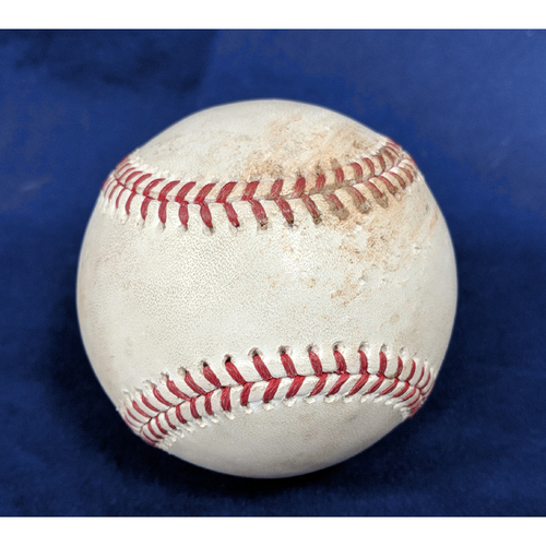 Photo of Game-Used Baseball: Shohei Ohtani Pitched Ball to Mookie Betts (Foul)- 4/17/18