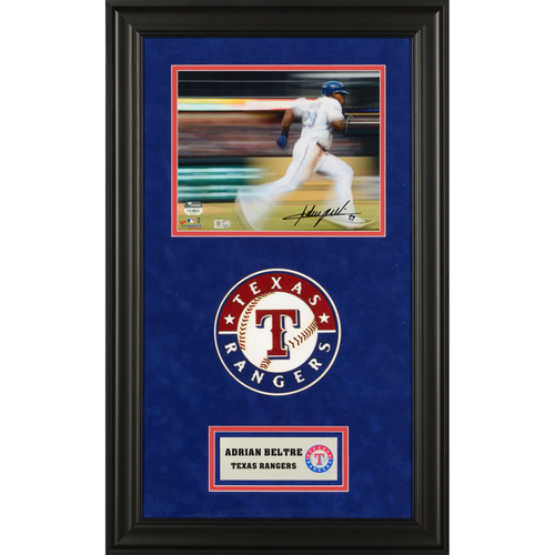 "Photo of Adrian Beltre Texas Rangers Deluxe Framed Autographed 8"" x 10"" Motion Effect Photo"