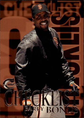 Photo of 1996 Circa #197 Barry Bonds CL