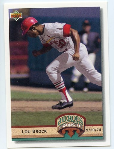 Photo of 1992 Upper Deck Heroes Highlights #HI2 Lou Brock
