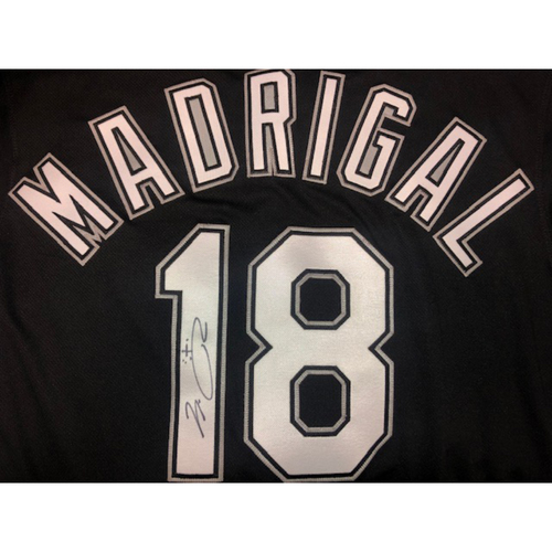 Photo of Nick Madrigal Autographed Black Alternate Jersey - Size 42