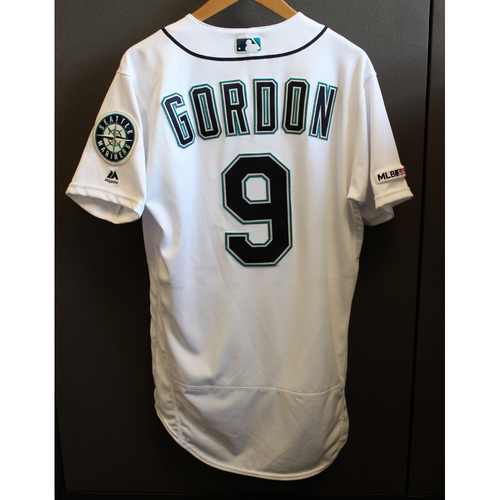 Photo of Dee Gordon Game-Used Armed Forces Day Jersey