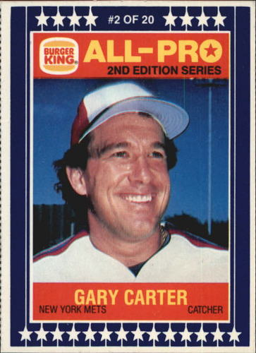 Photo of 1987 Burger King All-Pro #2 Gary Carter
