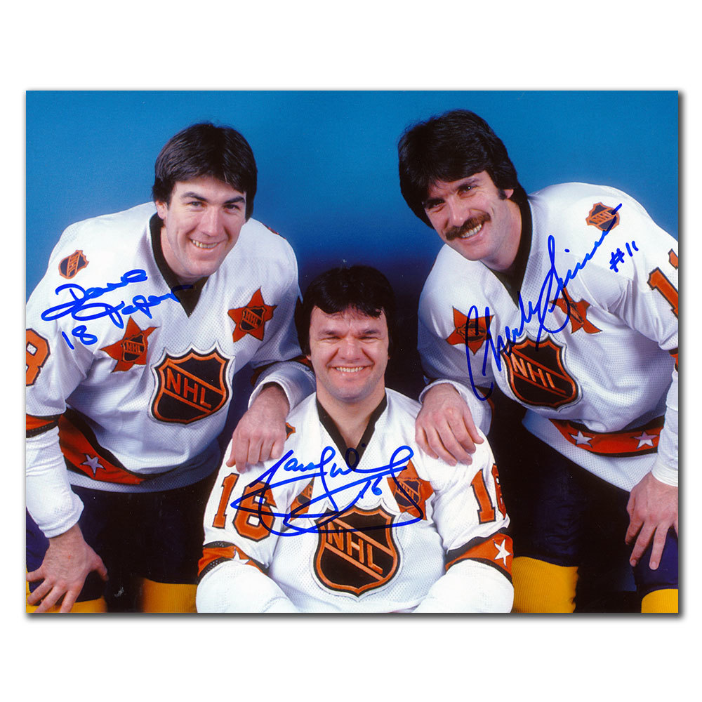 Marcel Dionne Dave Taylor & Charlie Simmer 1981 33rd NHL All Star Game Autographed 8x10