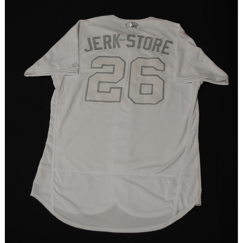 "Photo of Jedd ""JERK STORE"" Gyorko Los Angeles Dodgers Game-Used 2019 Players' Weekend Jersey"