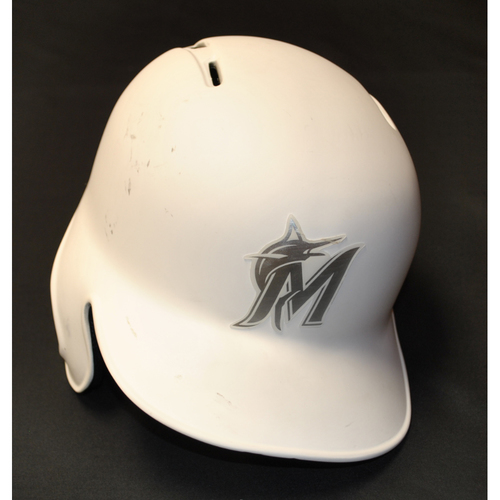 "Photo of Jarlin ""THE ELEPHANT"" Garcia Miami Marlins Team-Issued 2019 Players' Weekend Helmet"