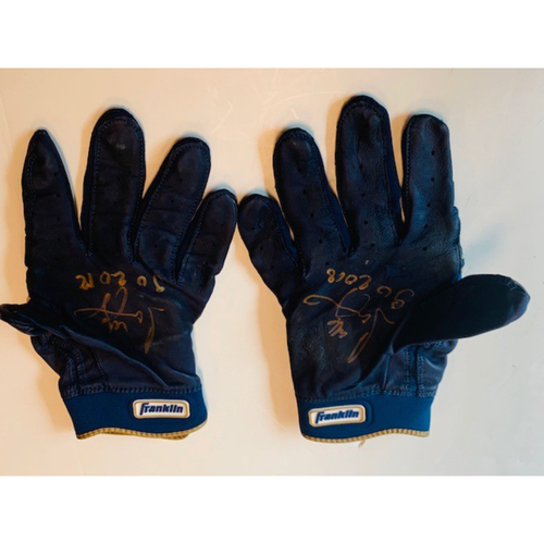 Autographed Jeimer Candelario Batting Gloves