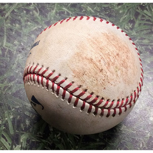 Photo of Game-Used Baseball HOU@MIL 09/02/19 - Adrian Houser - Alex Bregman: Single